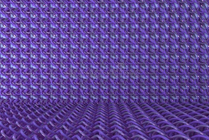 CGI composition, string mat, geometric backdrop for design texture, background. 3D render. CGI composition, string mat geometric backdrop, for design texture or vector illustration