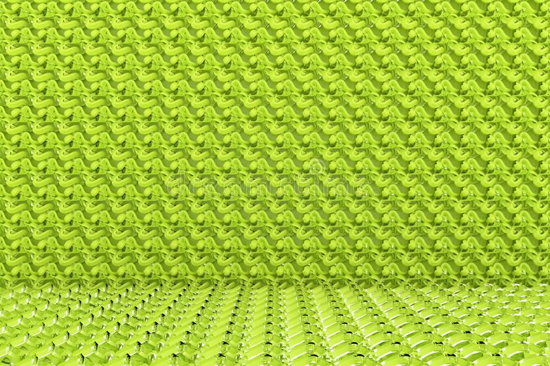 CGI composition, string mat, geometric backdrop for design texture, background. 3D render. Geometric backdrop, string mat, CGI composition. For web page royalty free illustration