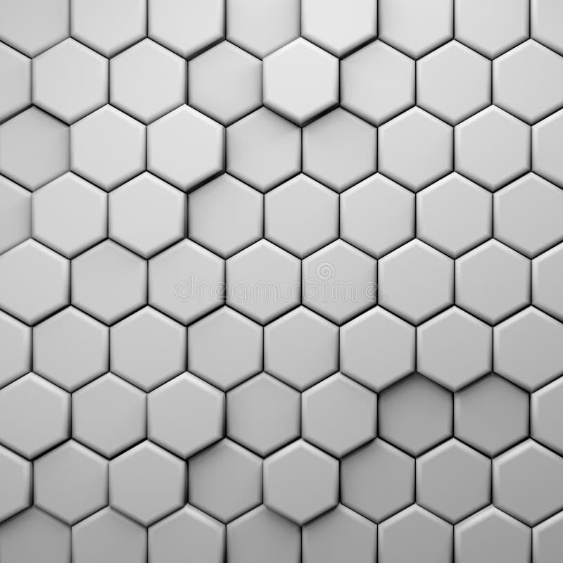 CGI 3d heksagonalny tapetowy tło ilustracja wektor