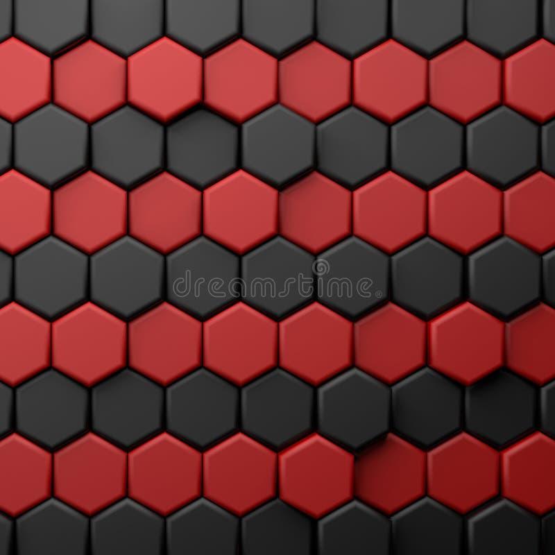 CGI 3d heksagonalny tapetowy tło ilustracji