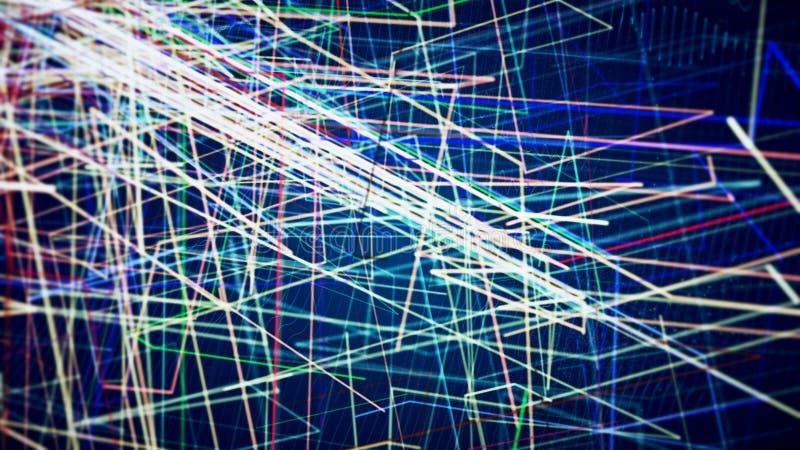 Cgi-diagram med kulöra linjer vektor illustrationer