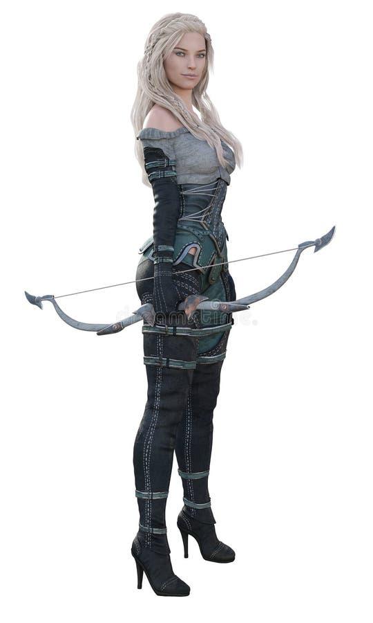 CGI-Fantasie Archer Standing Confidently stock fotografie