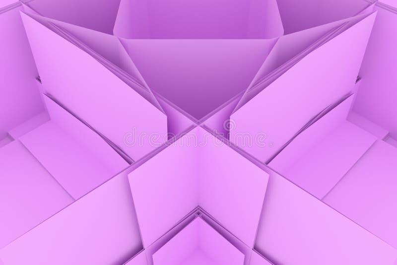CGI, przypadkowy geometryczny, tło dla projekt tekstury, tło 3 d czyni? ilustracji