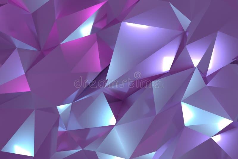 CGI, przypadkowy geometryczny, t?o dla projekt tekstury, t?o 3 d czyni? royalty ilustracja