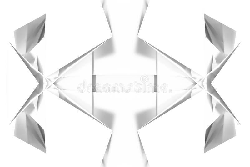 CGI, przypadkowy geometryczny, t?o dla projekt tekstury, t?o Szary lub czarny i bia?y b&w 3D odp?aca si? ilustracji