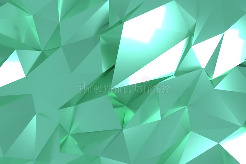CGI, random geometric, backdrop for design texture, background. 3D render. stock illustration