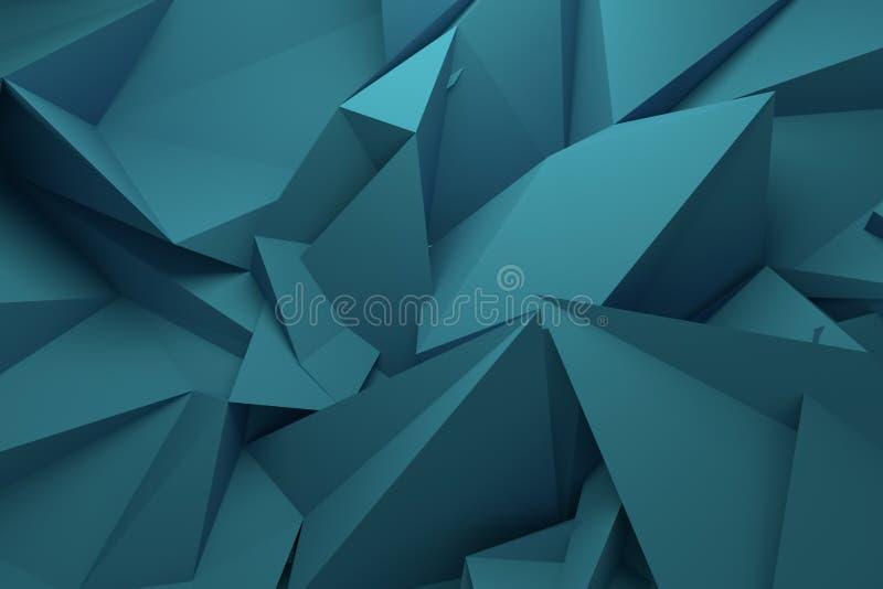 CGI, random geometric, backdrop for design texture, background. 3D render. royalty free illustration