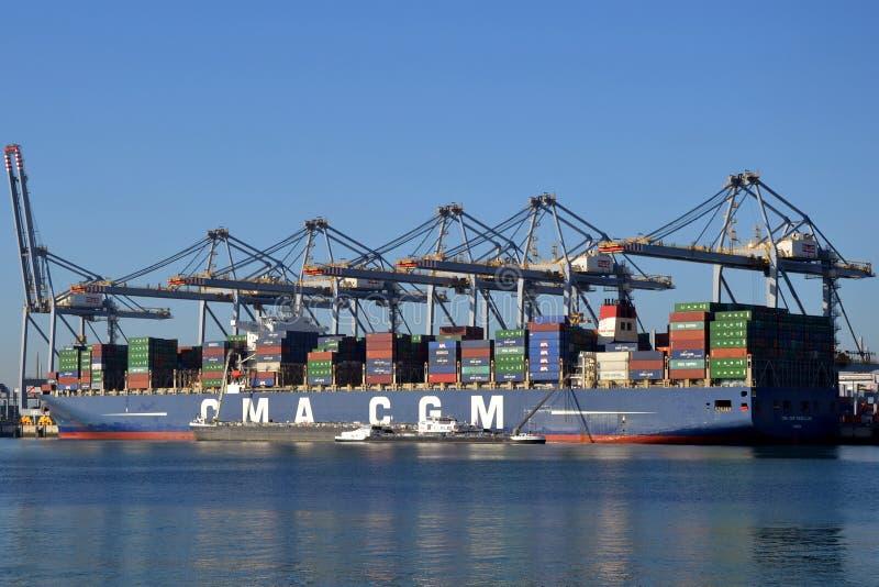 CGM Magellan de CMA do navio de recipiente foto de stock royalty free