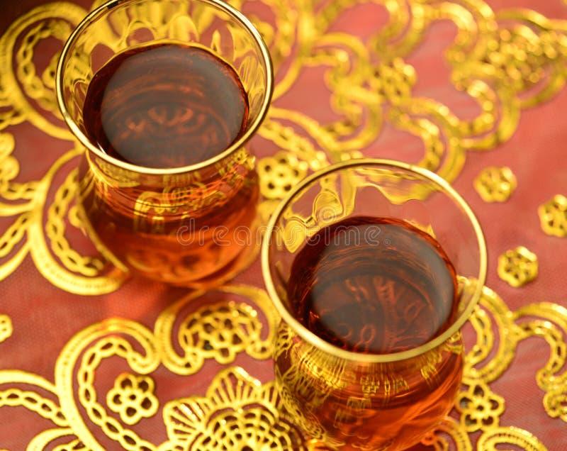 Chá árabe imagens de stock