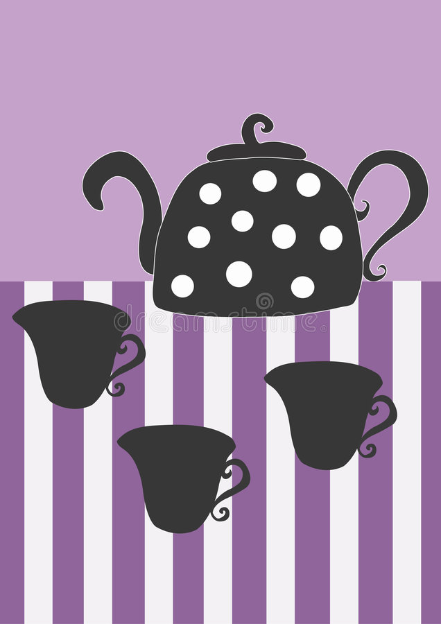 Chá ilustração stock
