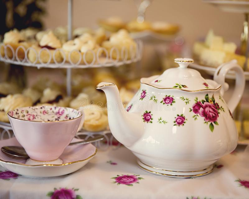 Chá alto para a ocasião especial foto de stock