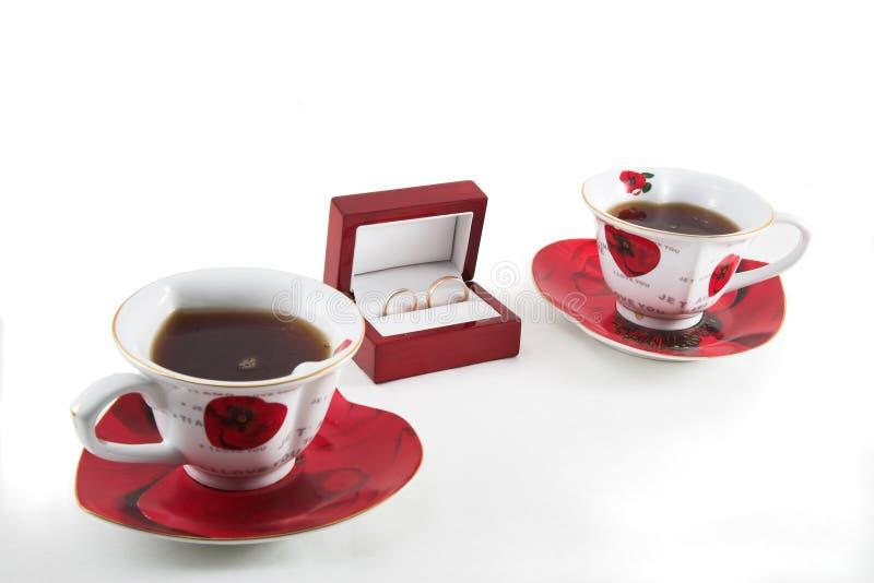 Chá antes do casamento fotografia de stock royalty free