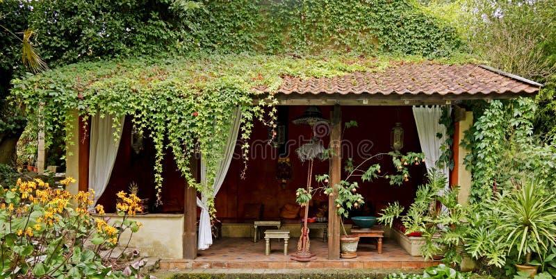 Chá-casa no estilo marroquino foto de stock