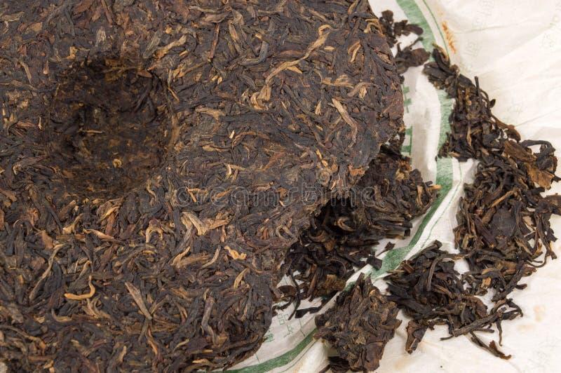 Chá chinês fermentado plutônio-erh fotografia de stock