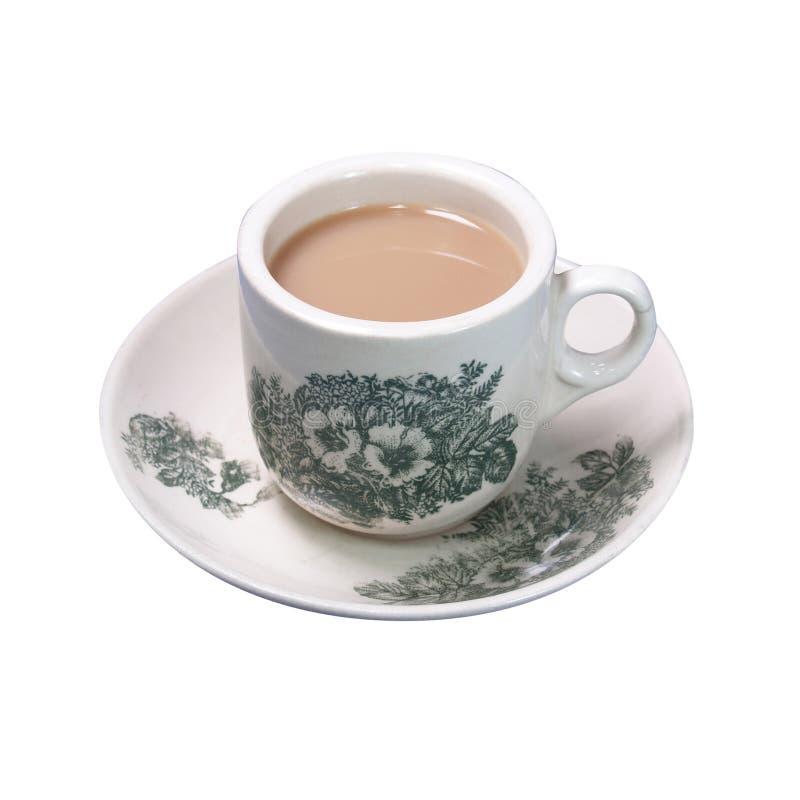 Chá chinês tradicional asiático famoso de Nanyang com leite o Tarik fotos de stock