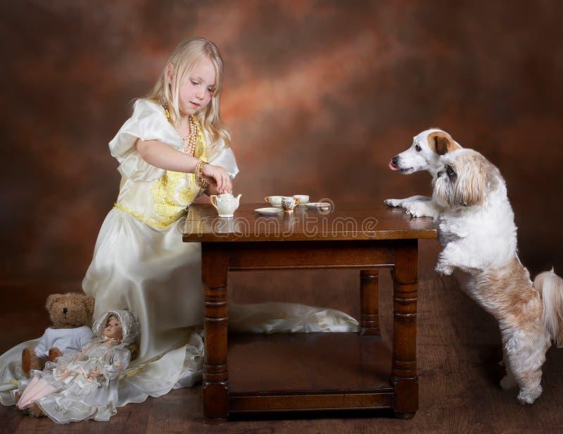 Chá com amigos fotografia de stock royalty free