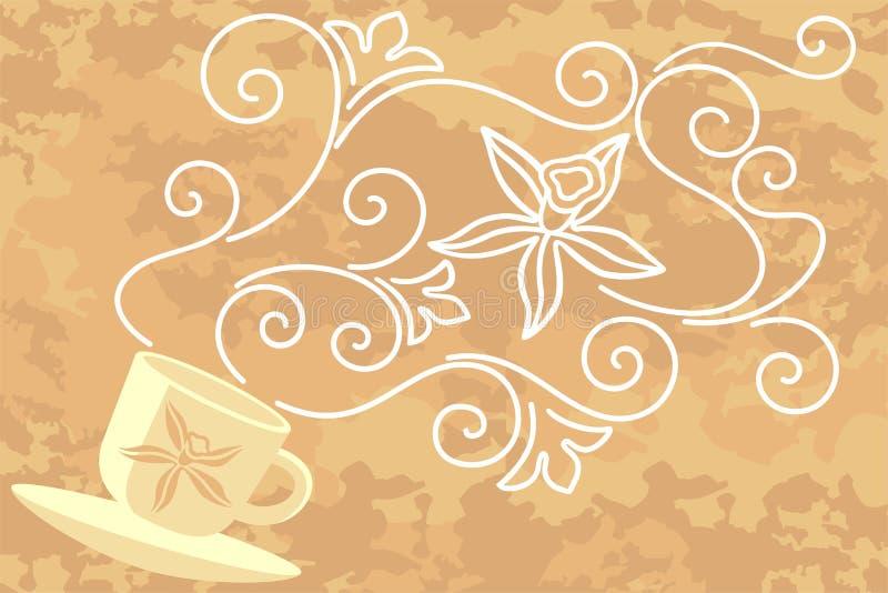 Chá com especiarias ilustração do vetor