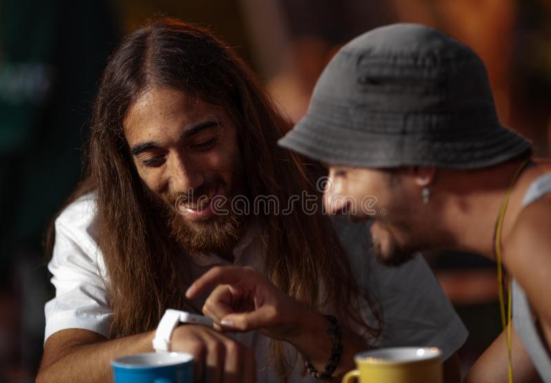 Chá com um amigo foto de stock royalty free