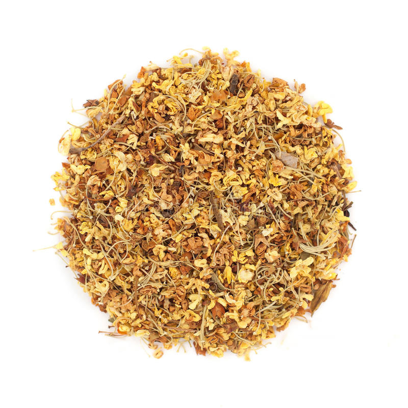 Chá da flor do Osmanthus imagens de stock royalty free