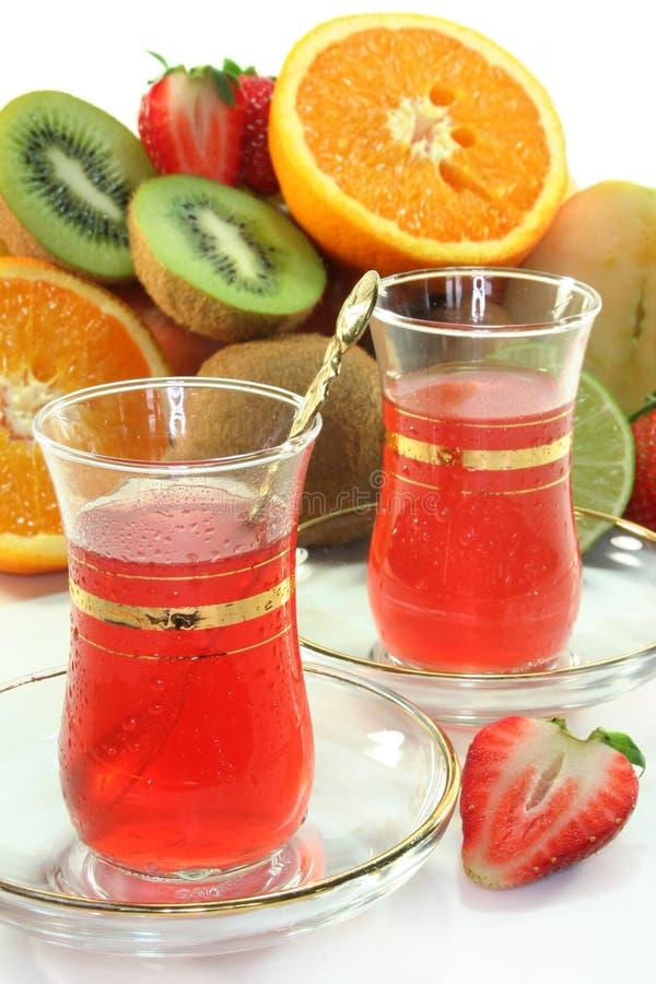 Chá da fruta imagem de stock