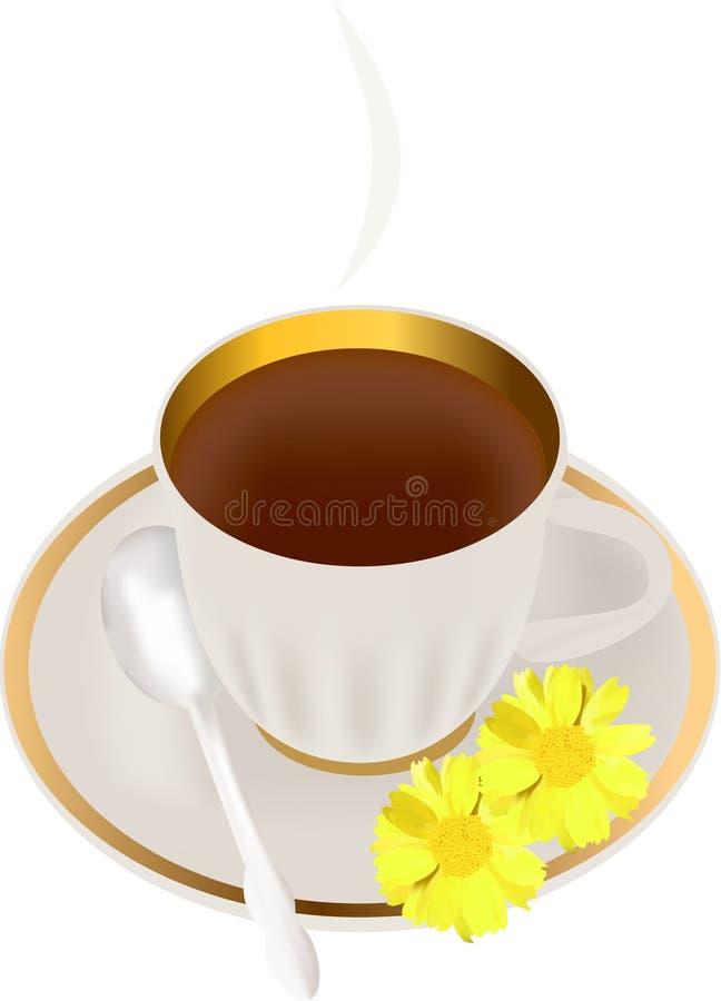 Chá da manhã ilustração do vetor