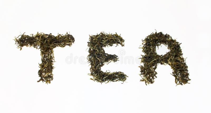 Chá da palavra imagens de stock