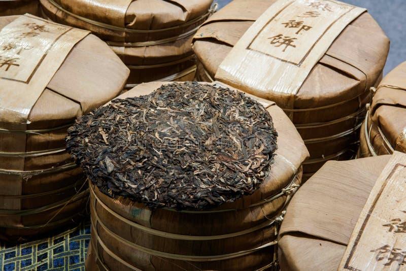 Chá de Chongqing Tea Expo e chá do tijolo imagem de stock
