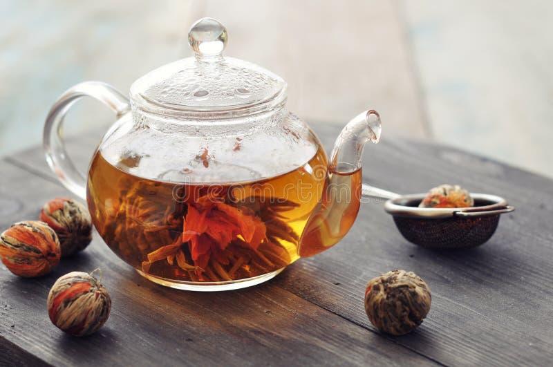 Chá de florescência chinês fotografia de stock royalty free