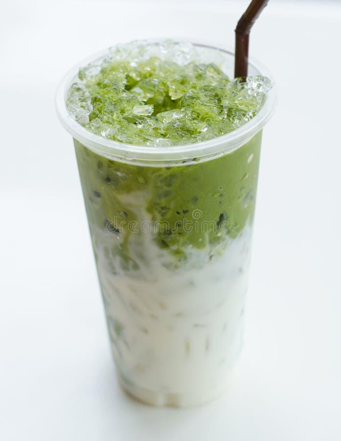Chá de Matcha com leite fotos de stock royalty free