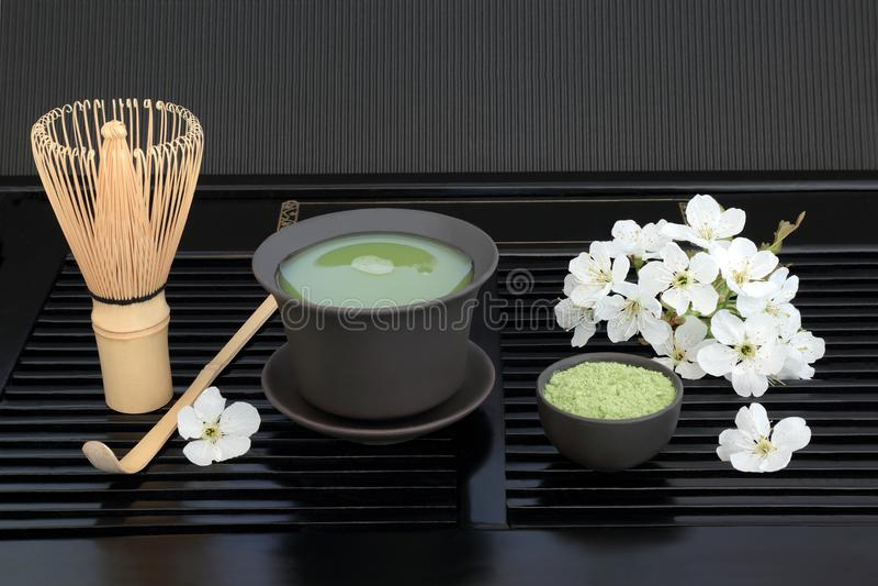 Chá de Matcha do japonês fotografia de stock