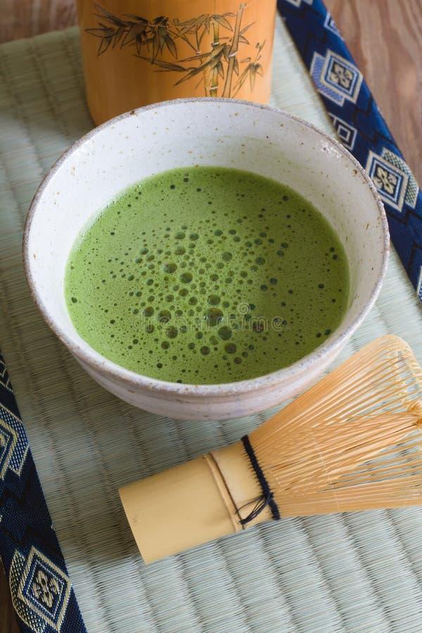 Chá de Matcha do japonês foto de stock royalty free
