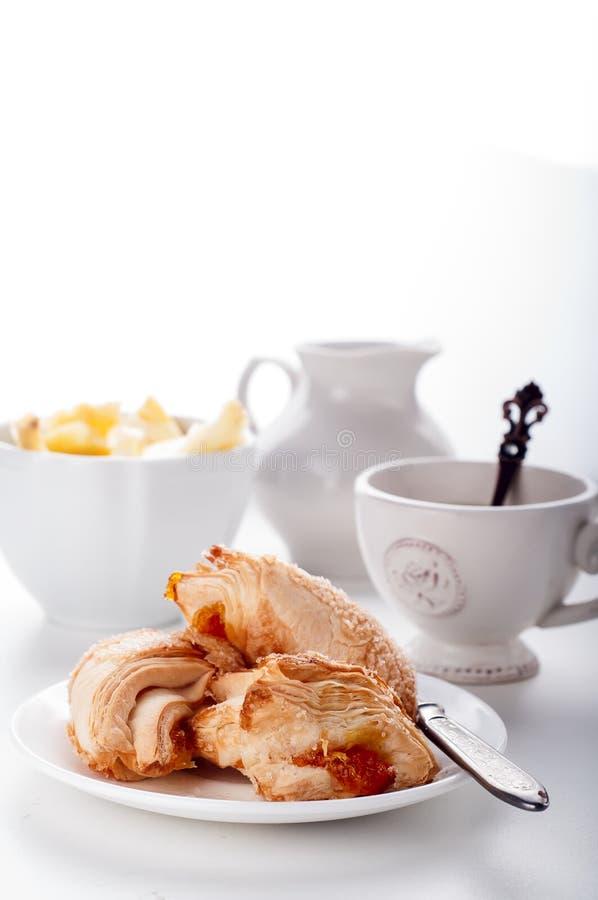 Chá do inglês do cookieswith do sopro fotos de stock royalty free