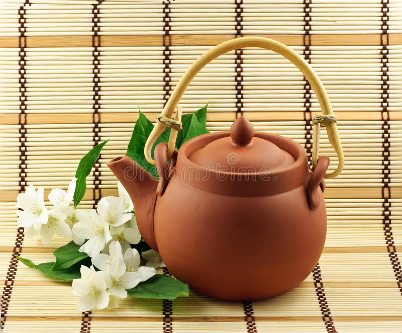 Chá do jasmim fotos de stock royalty free