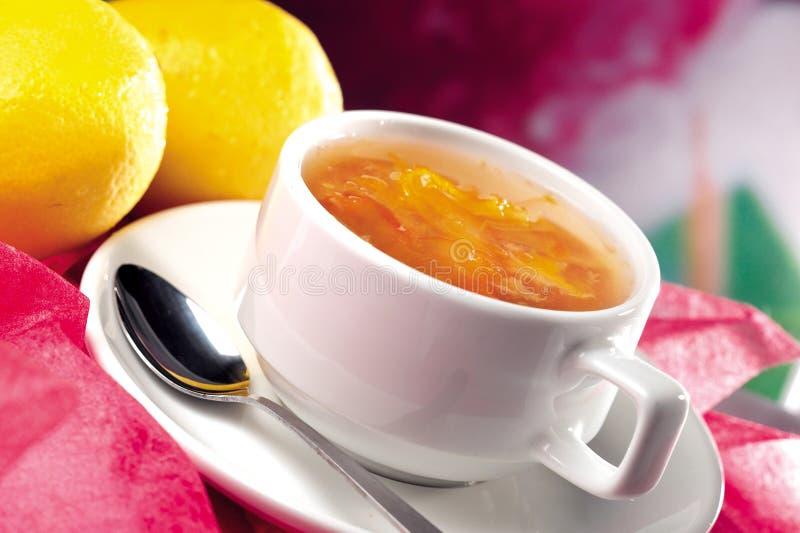 Chá do limão fotografia de stock