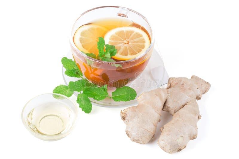 Chá do limão do gengibre imagem de stock