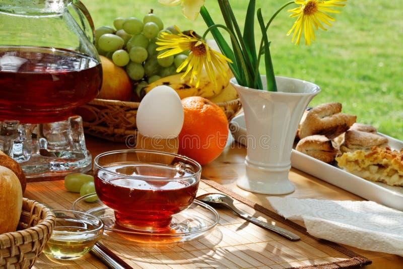 Chá do pequeno almoço. fotos de stock