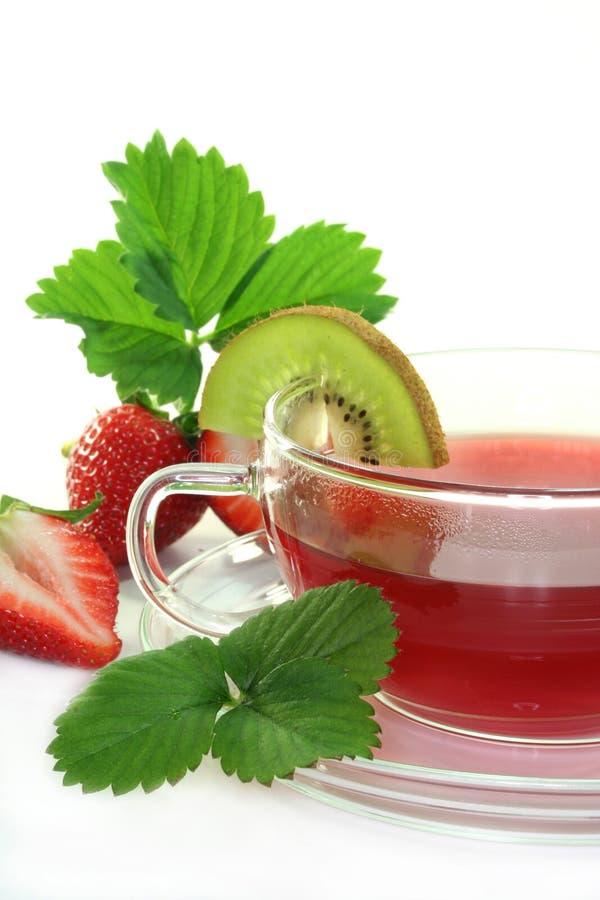 Morango Kiwi Tea fotografia de stock