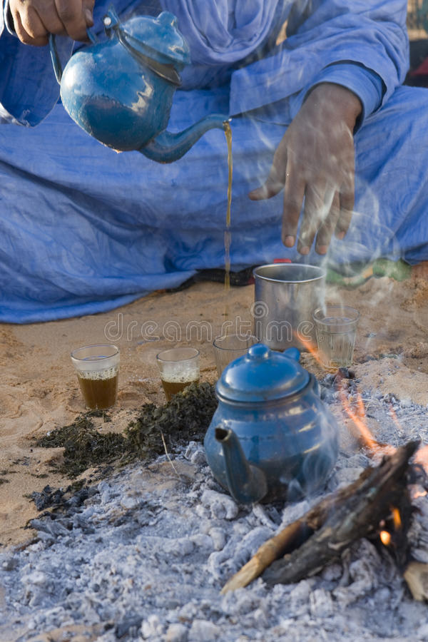 Chá do Tuareg fotografia de stock royalty free