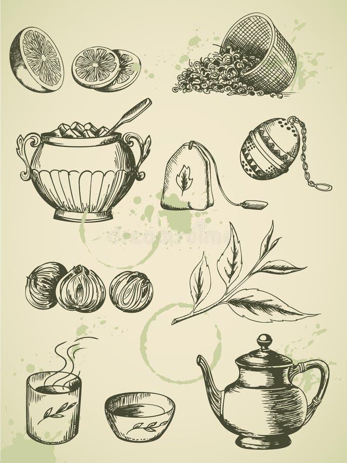 Chá do vintage ilustração stock