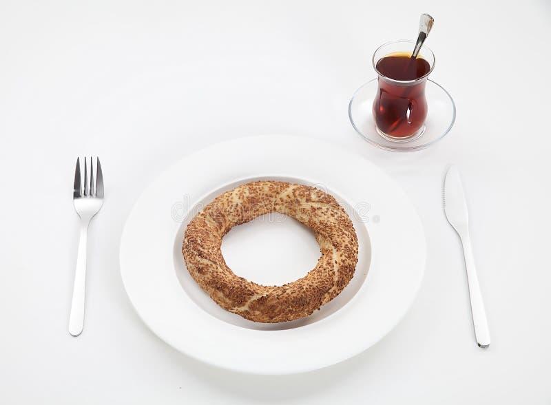Chá e anel imagem de stock royalty free
