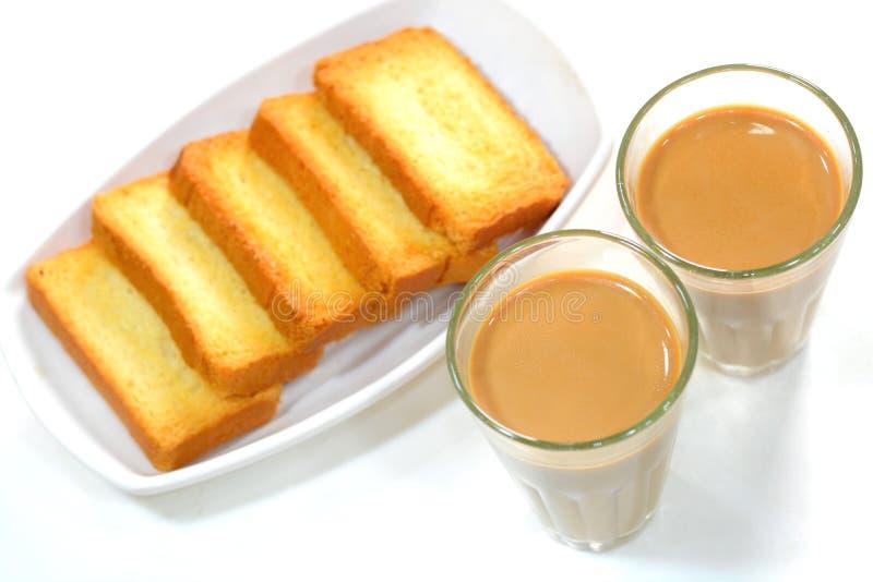 Chá e biscoito fotografia de stock royalty free