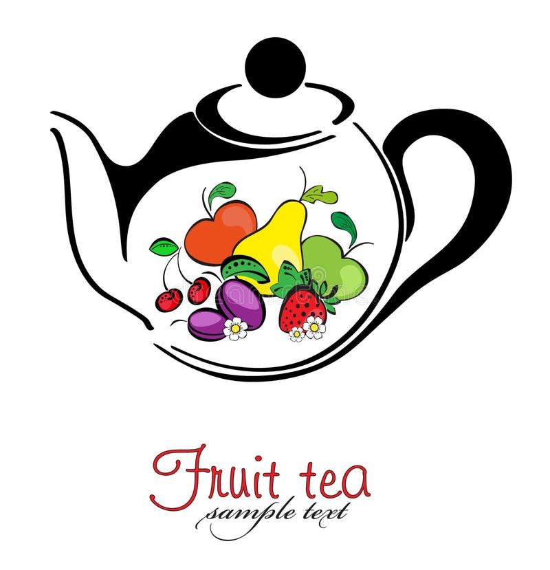Download Chá e chá da fruta ilustração do vetor. Ilustração de ilustração - 26500533
