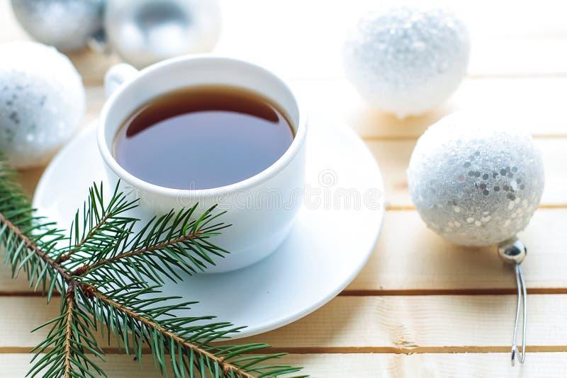 Chá e deleites para uma casa do feriado Eu bebo porcas e bagas Spr imagem de stock