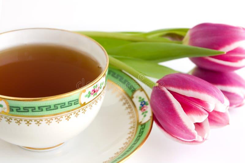 Chá e flores imagem de stock royalty free