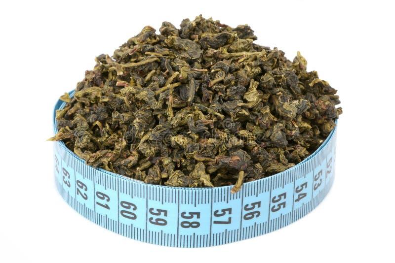 Chá e medidor de Oolong fotos de stock royalty free