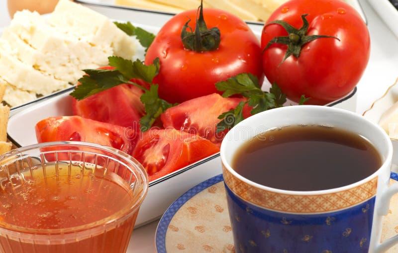 Chá e pequeno almoço fotografia de stock royalty free