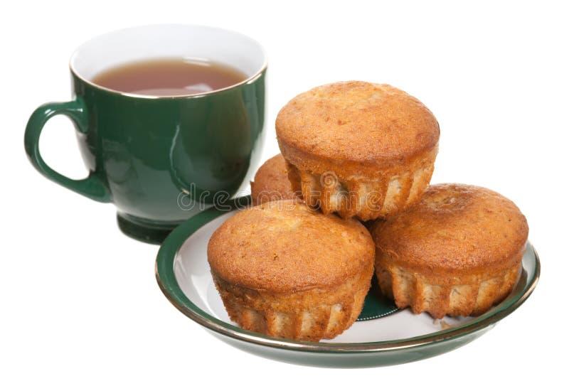 Chá e queques fotografia de stock royalty free