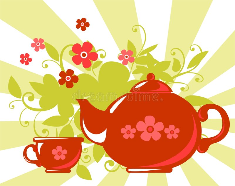 Chá erval ilustração stock