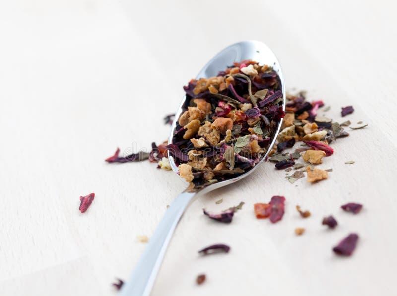 Chá frouxo da fruta imagem de stock royalty free