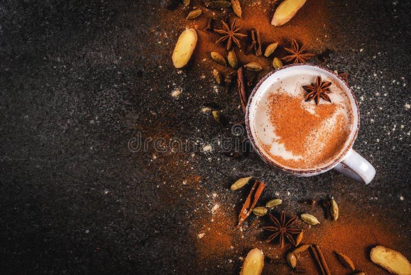 Chá indiano tradicional de chai do masala fotografia de stock